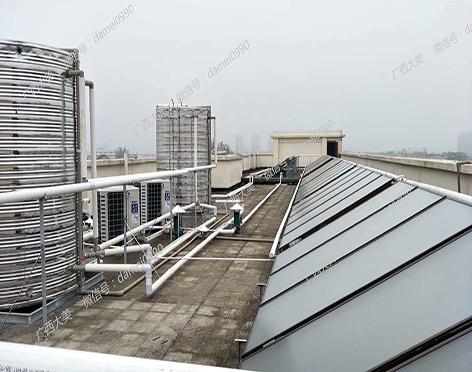 广西太阳能集热+空气能热水工程